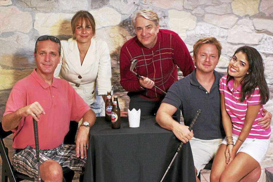 From left, Brian Riley of New Haven, Margie Johnson of Milford, Barry Hatrick of Milford, Kiel Stango of Waterbury and Cecelia Kurachi Ube of Cheshire. Photo: Photo Courtesy Of Eastbound Theatre