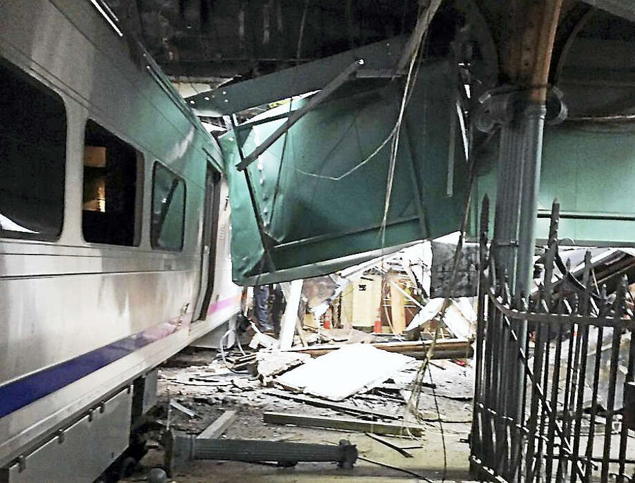 Dozens of people were reportedly being treated for injuries Thursday morning after a train crashed into a rail station in Hoboken, New Jersey. Photo: Courtesy Of Corey Futterman/@coreyfuttdesign