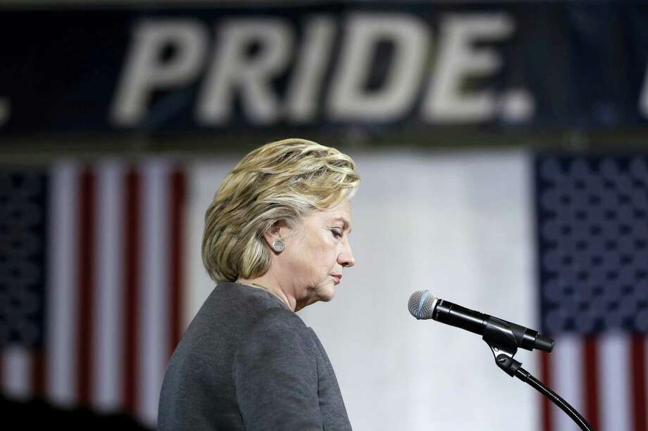 Democratic presidential candidate Hillary Clinton speaks during a campaign stop at the University Of New Hampshire in Durham, N.H. on Sept. 28, 2016. Photo: AP Photo/Matt Rourke  / Copyright 2016 The Associated Press. All rights reserved.