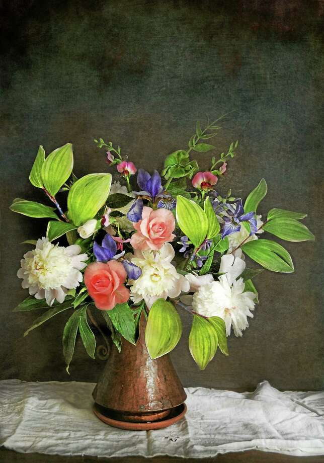 "Image courtesy of the artist ""Spring Bouquet 2"" by Judith Secco. Photo: Journal Register Co."