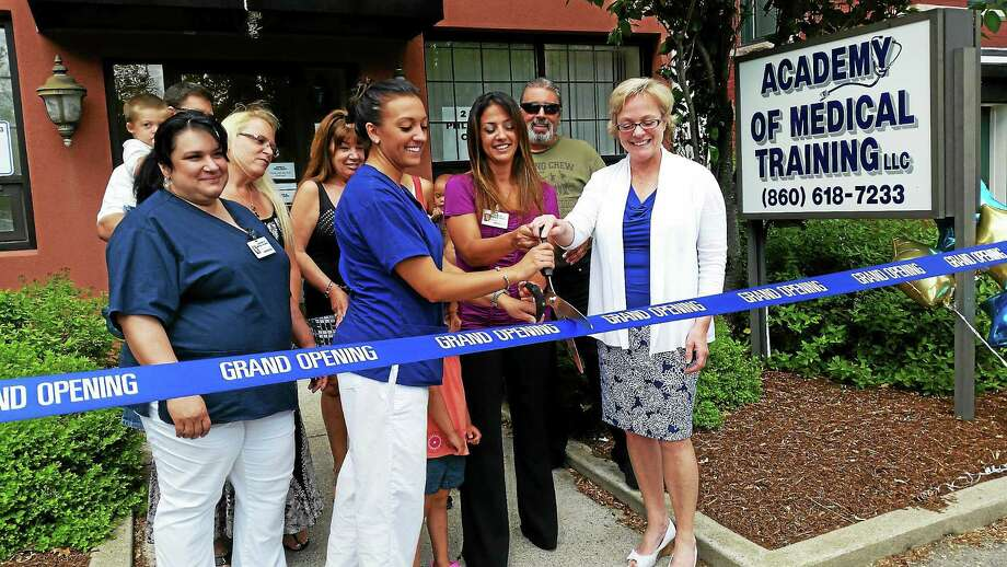 The Academy of Medical Training LLC held a ribbon cutting ceremony in honor of its newest location in Torrington on Thursday. Photo: Amanda Webster — The Register Citizen