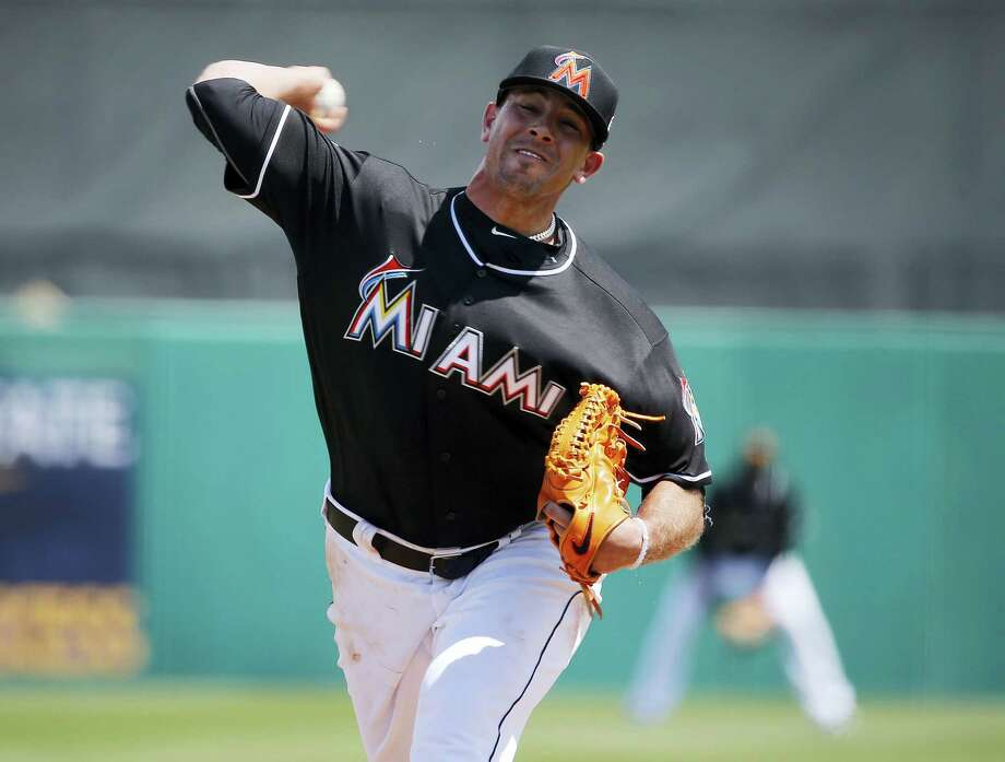 Miami Marlins starting pitcher Jose Fernandez delivers the ball during the first inning of an exhibition spring training baseball game against the New York Mets March 17, 2016 in Jupiter, Fla. Photo: AP Photo/Brynn Anderson  / AP