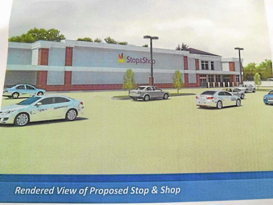 A rendering of what the proposed store would look like, submitted by Stop & Shop to the zoning office. Photo: Ryan Flynn — Register Citizen