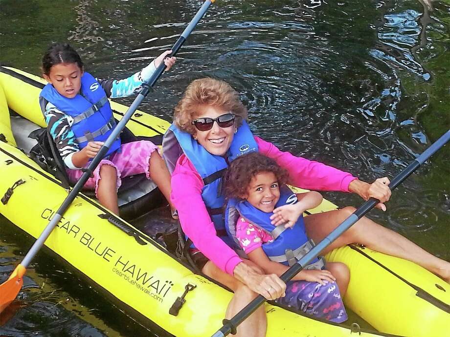 Kathi Peck camping with family. Photo: Contributed Photo