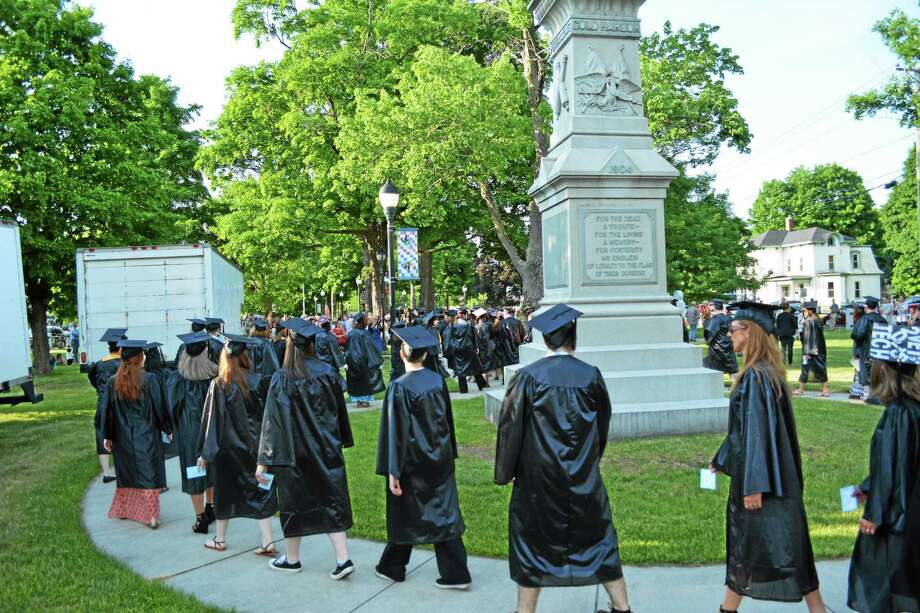 185 graduates were recognized Thursday evening as part of the 49th annual Northwestern Connecticut Community College commencement ceremony, held in East End Park in Winsted. Photo: Ben Lambert — The Register Citizen