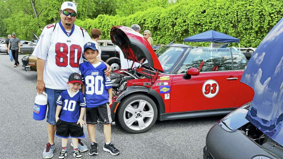"""The Royals' Garage Car Show at Lime Rock Park at 60 White Hollow Road in Lime Rock on Sunday. Organizers said 280 vintage and """"muscle"""" cars were exhibited along the one-and-a-half mile-long track. About 400 visitors attended between 11 a.m. and 2 p.m., raising an estimated $10,000 to benefit the Lakeville Hose Company. Photo: Journal Register Co."""