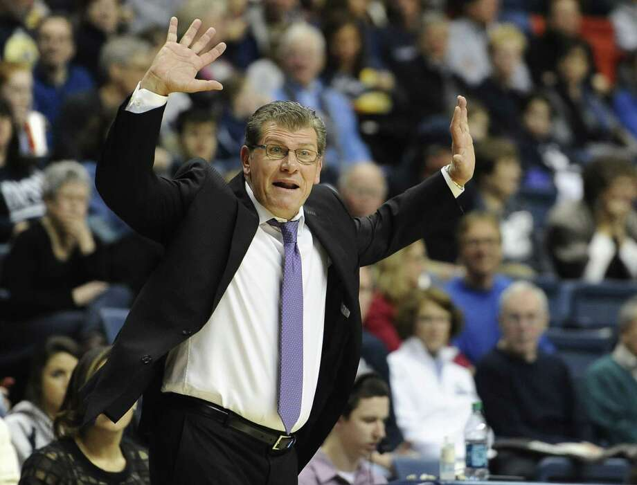 UConn coach Geno Auriemma's three incoming recruits will all play in the McDonald's All-American Game. Photo: Jessica Hill — The Associated Press  / ap