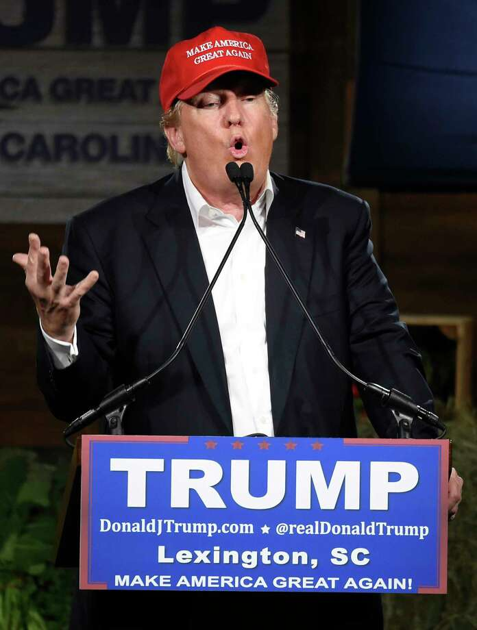 Republican presidential candidate Donald Trump speaks during a campaign stop on Wednesday, Jan. 27, 2016, in Gilbert, S.C. Photo: AP Photo/Rainier Ehrhardt  / FR155191 AP