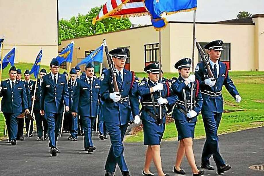Torrington High School's JROTC conducted its Change of Command Ceremony on Tuesday. Photo: Amanda Webster--The Register Citizen