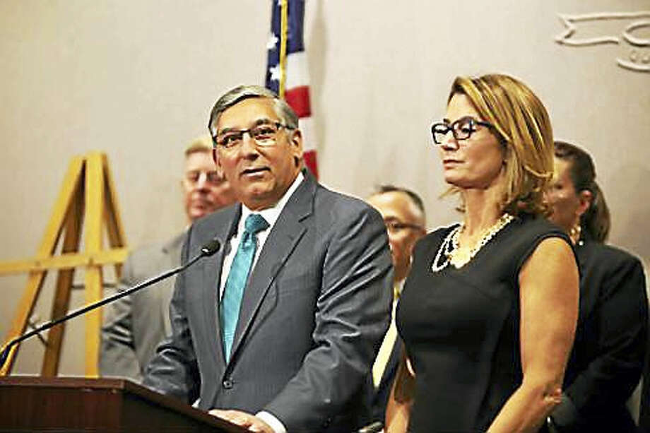 Senate Minority Leader Len Fasano and House Minority Leader Themis Klarides Photo: CTNewsJunkie File Photo