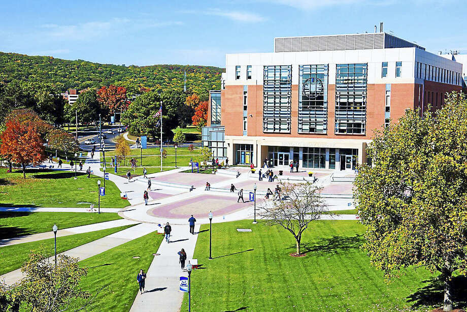 The newly renovated and expanded Hilton C. Buley Library at SCSU. Photo: COURTESY SOUTHERN CONNECTICUT STATE UNIVERSITY   / SCSU