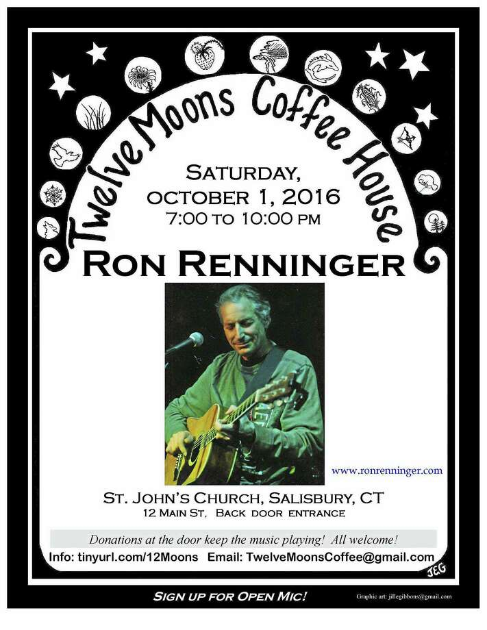 Contributed photo Singer-songwriter Ron Renninger plays 12 Moons on Oct. 1. Photo: Journal Register Co.