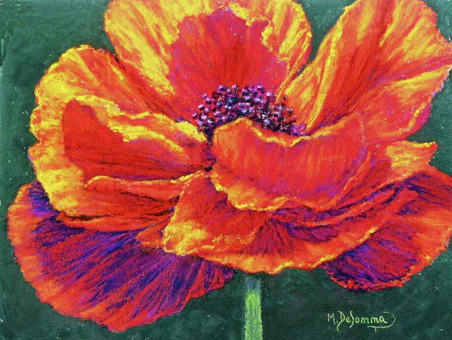 Contributed photoOne Sexy Flower, a pastel by Mally DeSomma. Photo: Journal Register Co.