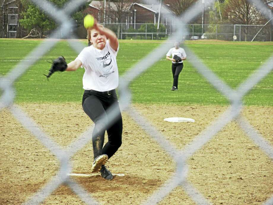 File Photo by Peter WallaceThomaston's Morgan Sanson joins hundreds of other area athletes hoping to go deep into state tournaments beginning with play-in rounds today. Photo: Journal Register Co.