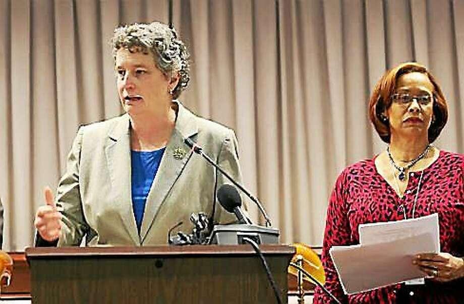 Sen. Beth Bye and Rep. Toni Walker. Photo: Christine Stuart -— CTNewsJunkie File Photo