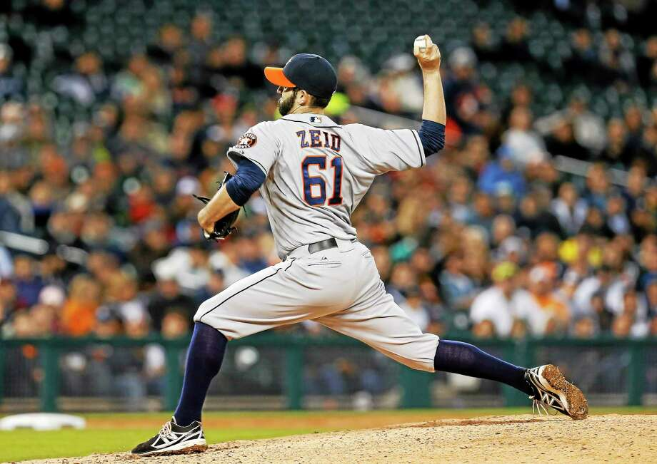 New Haven native Josh Zeid hopes to earn a spot in the Detroit Tigers bullpen after spending the last two seasons with the Houston Astros. Photo: Paul Sancya — The Associated Press File Photo  / AP