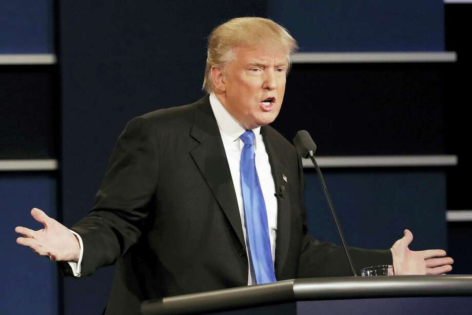 Republican presidential nominee Donald Trump answers a question during the presidential debate with Democratic presidential nominee Hillary Clinton at Hofstra University in Hempstead, N.Y. on Sept. 26, 2016. Photo: AP Photo/David Goldman  / Copyright 2016 The Associated Press. All rights reserved.