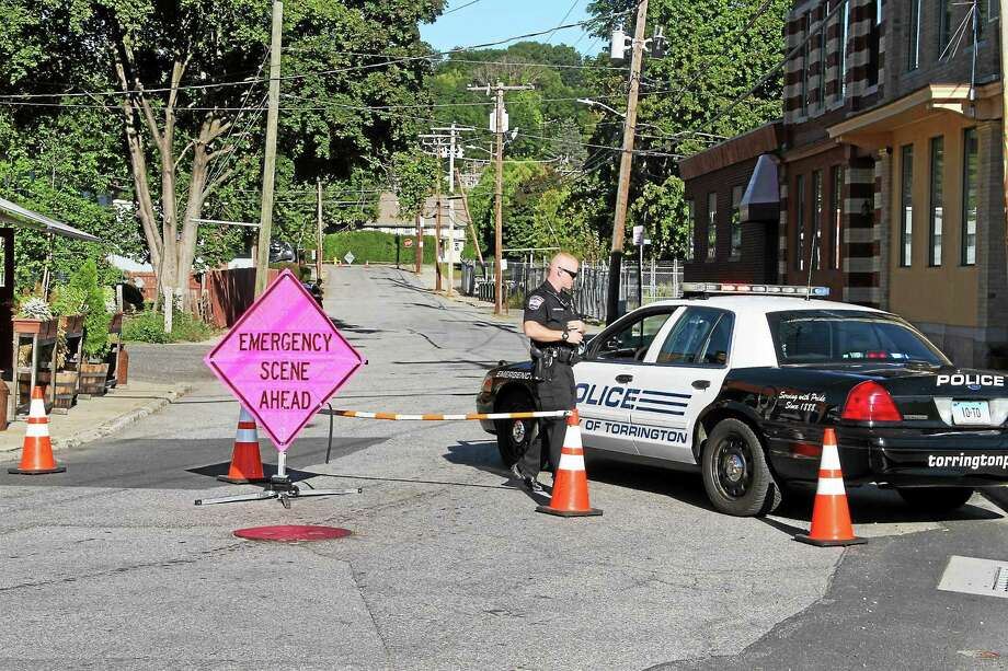 An issue on Franklin Street caused power outages in Torrington on Wednesday. Photo: Manon M. Mirabelli — The Register Citizen