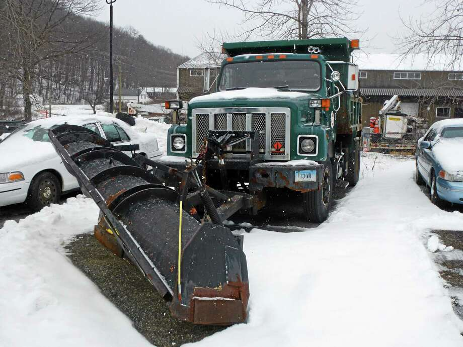 The Public Works Department has 13 snow plows that covers routes througout the town. Photo: Ryan Flynn — Register Citizen