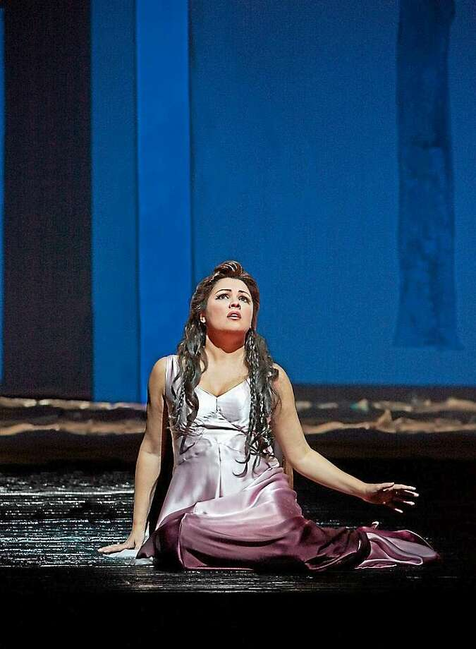 "Ken Howard/Metropolitan Opera Anna Netrebko as Antonia in Offenbach's ""Les Contes d'Hoffmann."" Photo: Journal Register Co."