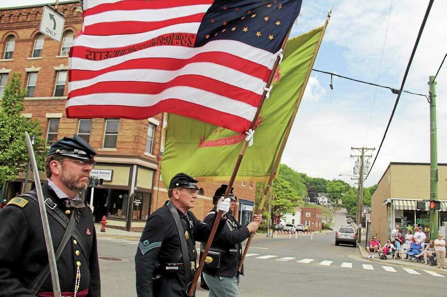 Participants in Winsted's Memorial Day parade on Monday. Photo: Photo By Anita Garnett