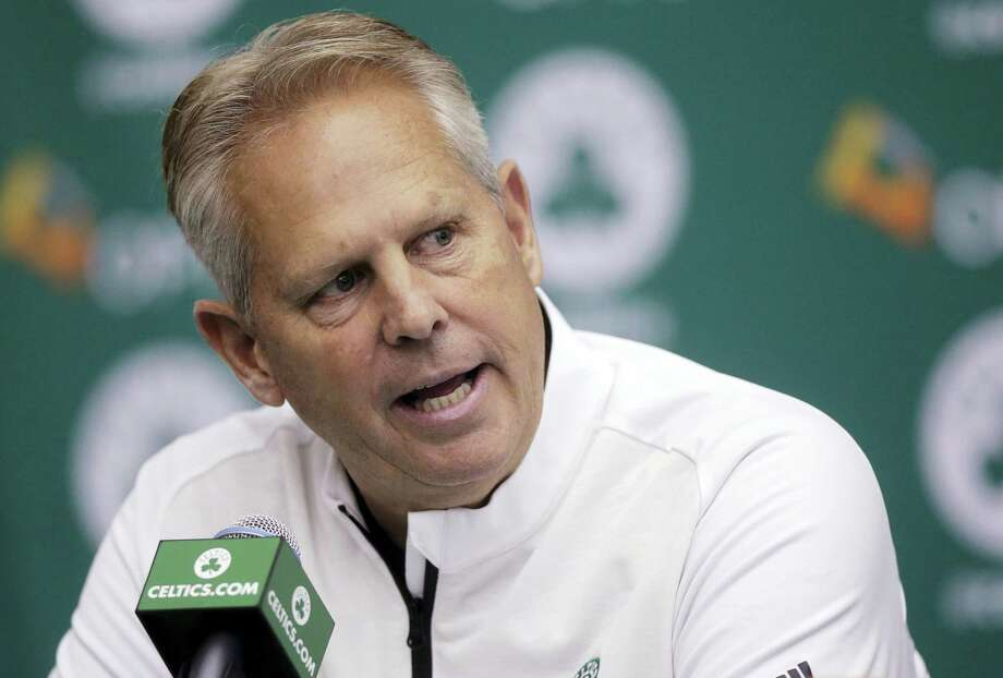 Boston Celtics general manager Danny Ainge takes questions from reporters during media day at the team's training facility Monday in Waltham, Mass. Photo: Steven Senne — The Associated Press  / Copyright 2016 The Associated Press. All rights reserved.