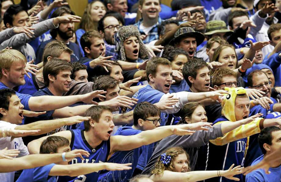 Members of the Yale men's basketball team will get an up close look at the Cameron Crazies this November when the Bulldogs meet Duke in November. Photo: The Associated Press File Photo  / AP