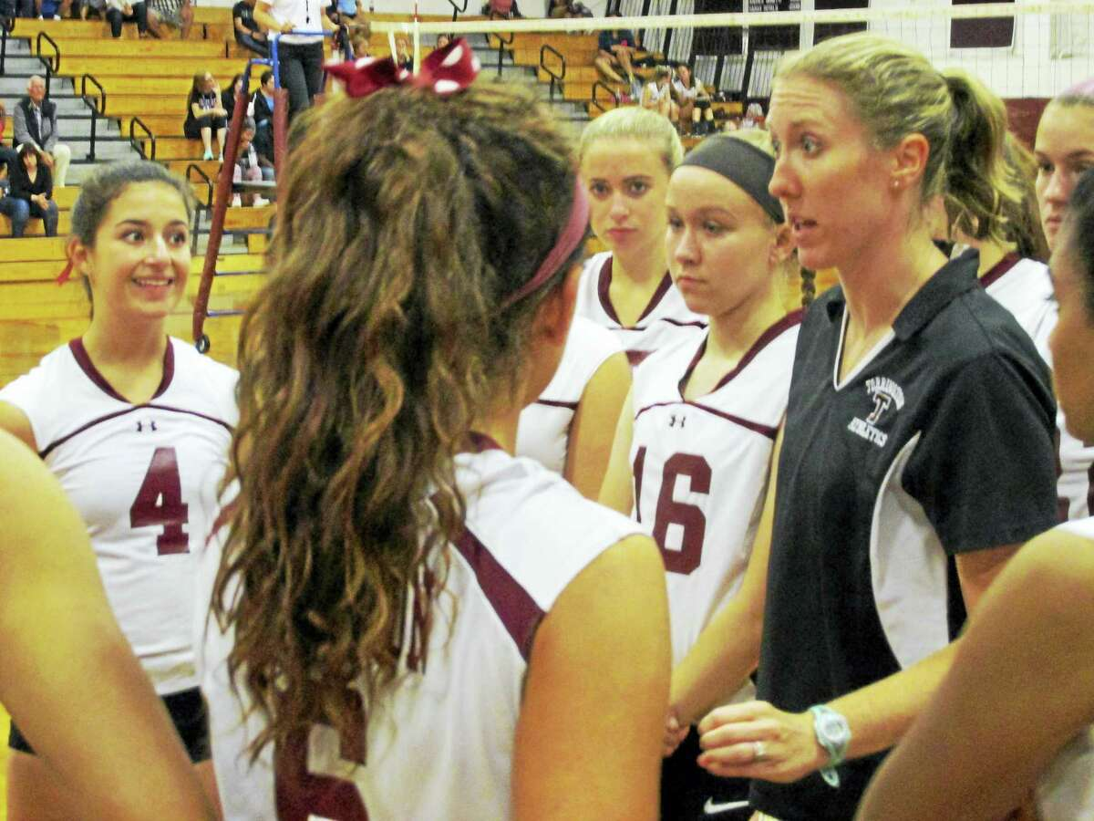 Photo by Peter WallaceTorrington Coach Christine Gamari had her Red Raiders on the brink of victory twice against undefeated Granby Memorial Monday evening at Torrington High School.