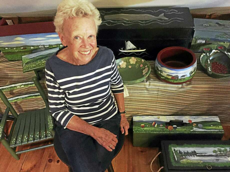 Contributed photo Led by Rhoda Jennings, a well-known area folk art painter, Flanders Nature Center & Land Trust is hosting a two session workshop on Primitive Painting in the styles of Early American Folk Art. Photo: Journal Register Co.