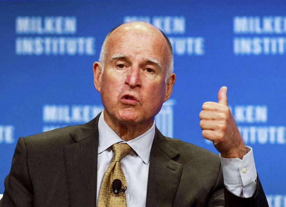 California Gov. Jerry Brown Photo: File Photo   / FR170512 AP