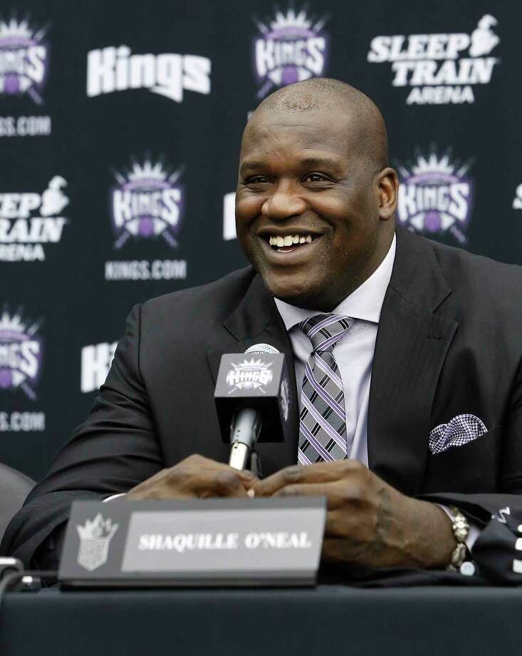 In this Sept. 24, 2013 photo, Shaquille O'Neal smiles during a news conference where he was welcomed as one of the new minority owners of the Sacramento Kings in Sacramento, Calif. Photo: AP Photo/Rich Pedroncelli, File  / AP