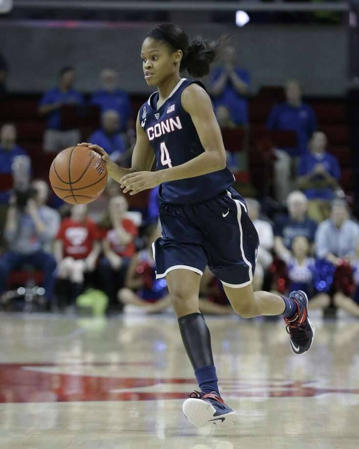 UConn point guard Moriah Jefferson hasn't missed a shot in the past two games. Photo: LM Otero — The Associated Press  / AP