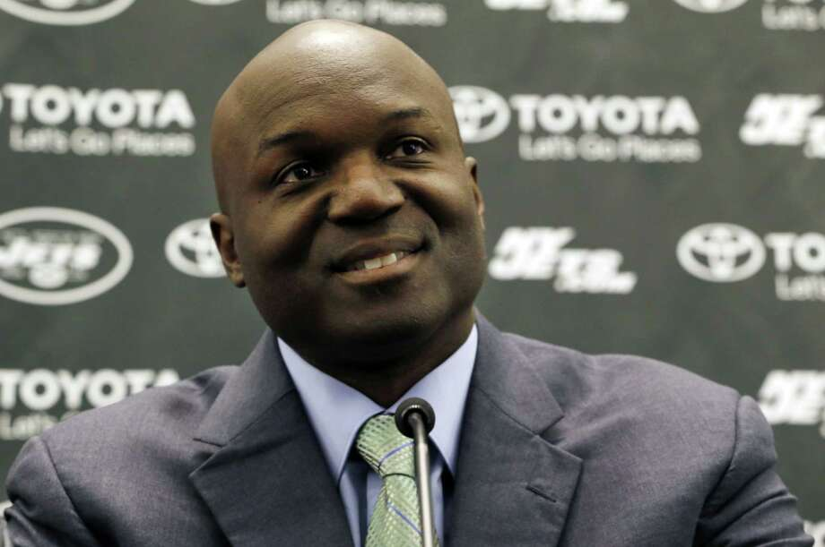New York Jets head coach Todd Bowles speaks during a news conference Wednesday in Florham Park, N.J. Photo: Julio Cortez — The Associated Press  / AP