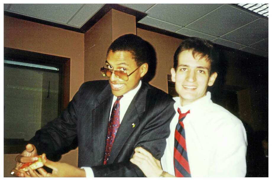 David Panton, left, and Ted Cruz are shown as college students at Princeton, where the two were roommates and debate partners. Photo: Photo By Daedre Levine / Handout