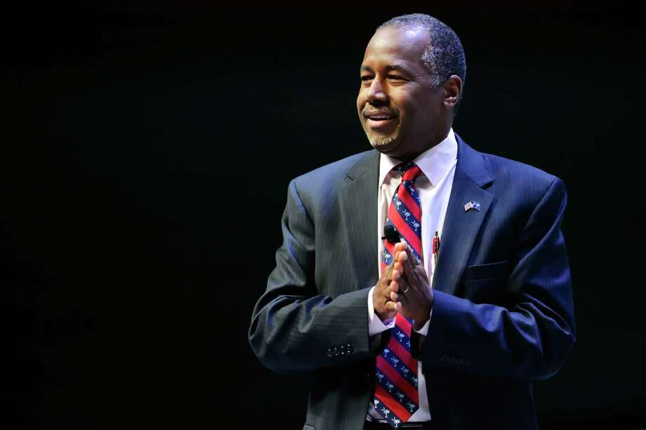 Republican presidential candidate Ben Carson speaks at a presidential forum sponsored by Heritage Action at the Bon Secours Wellness Arena on Sept. 18, 2015, in Greenville, S.C. Photo: AP Photo/Richard Shiro  / FR159523 AP