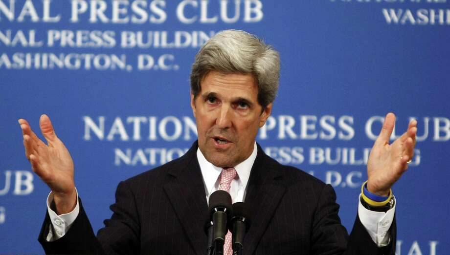 In this July 29, 2009, file photo, Sen. John Kerry, D-Mass., speaks at the National Press Club in Washington. Photo: AP Photo  / AP