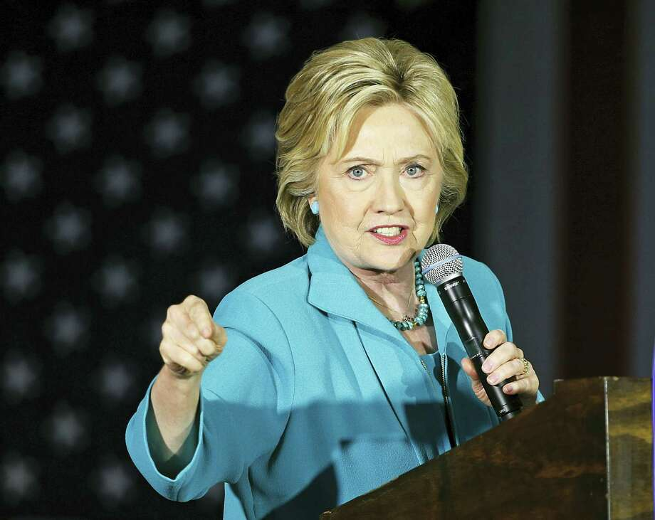 Democratic presidential candidate Hillary Clinton speaks in Commerce, Calif. A State Department audit has faulted Hillary Clinton and previous top U.S. diplomats for poorly managing information and slowly responding to new cybersecurity risks. Photo: AP Photo — John Locher, File / Copyright 2016 The Associated Press. All rights reserved. This material may not be published, broadcast, rewritten or redistribu