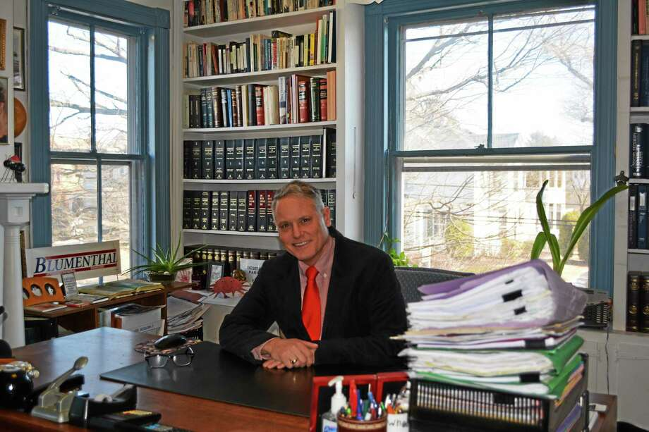Attorney Jeffrey Nicholas has celebrated 25 years of the Nicholas Law Firm this year. Photo: Amanda Webster — The Register Citizen
