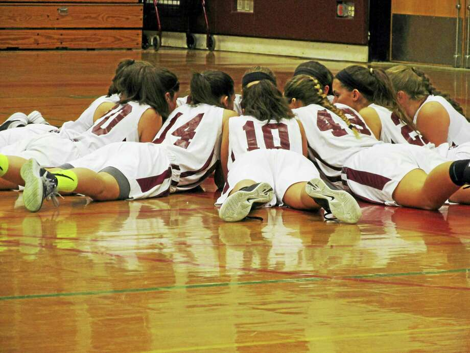 Torrington's girls basketball team works on its intensity before its game against Wolcott Friday night. Photo: Peter Wallace - Register Citizen