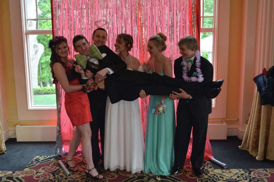 Students attended The Gilbert School prom Thursday evening, which was held at The Riverwalk in Simsbury. Photo: Ben Lambert — The Register Citizen