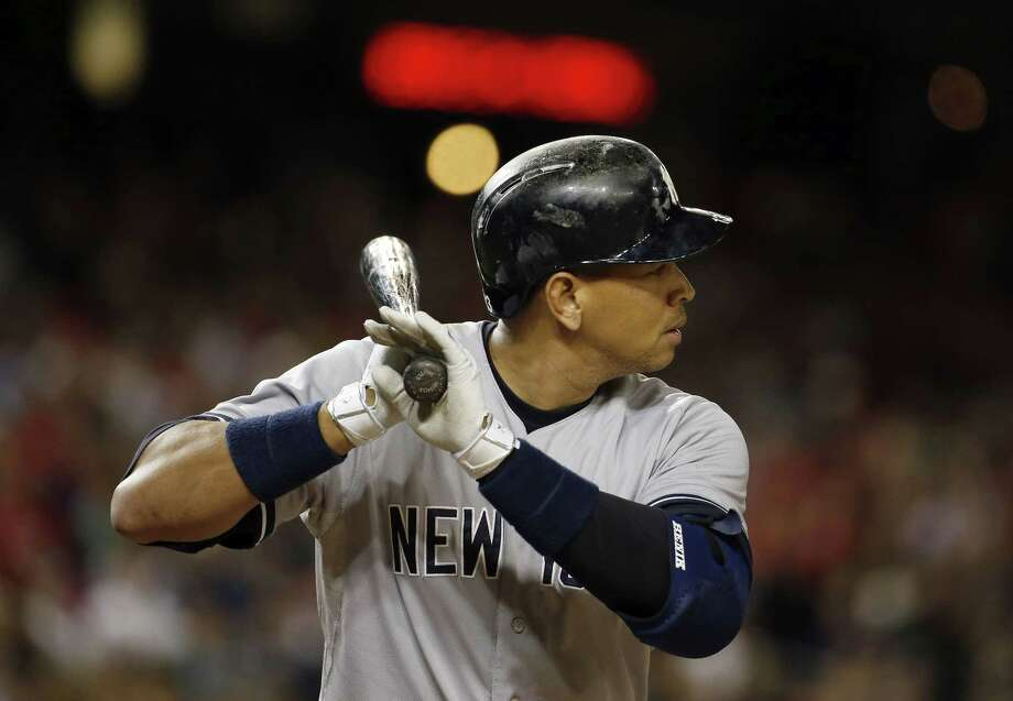 The New York Yankees' Alex Rodriguez bats during Wednesday's game against the Nationals in Washington. Photo: Alex Brandon — The Associated Press  / AP