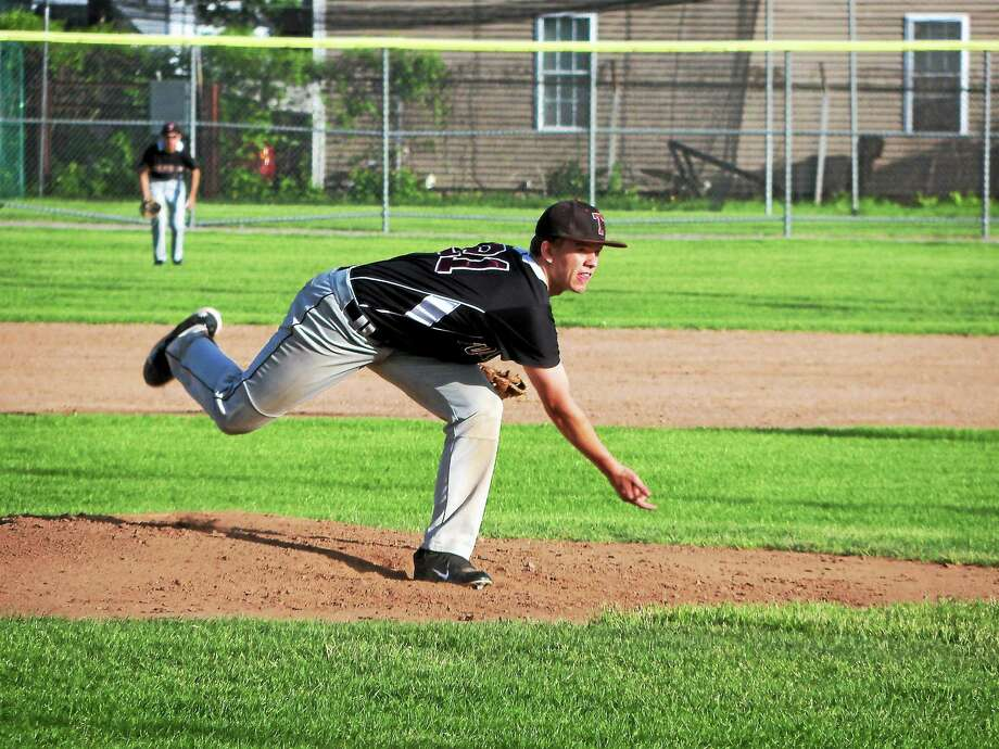 Torrington starter Tyler Troth endured a miserable first inning, then gave up just two more runs in the first four innings. Photo: Peter Wallace — Register Citizen