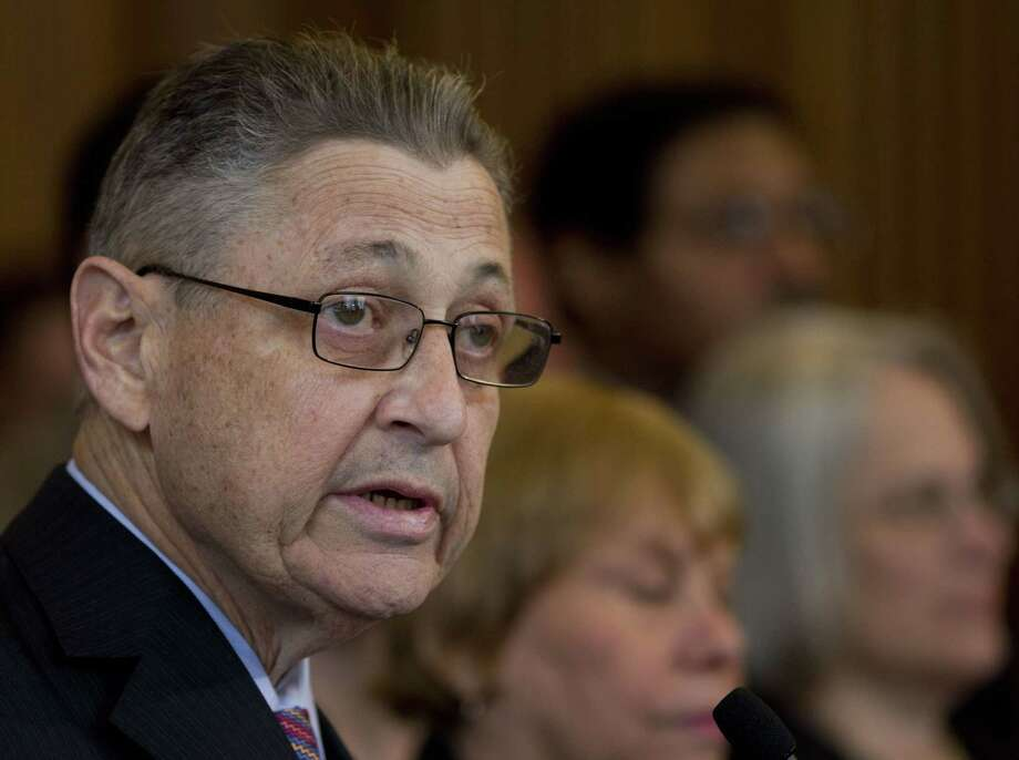 FILE - In this April 18, 2012 file photo, Assembly Speaker Sheldon Silver, D-Manhattan speaks during an affordable housing news conference at the Capitol in Albany, N.Y.  Silver, who has been one of the most powerful men in Albany for more than two decades, was arrested Thursday, Jan. 22, 2015 on public corruption charges.  (AP Photo/Mike Groll) Photo: AP / AP