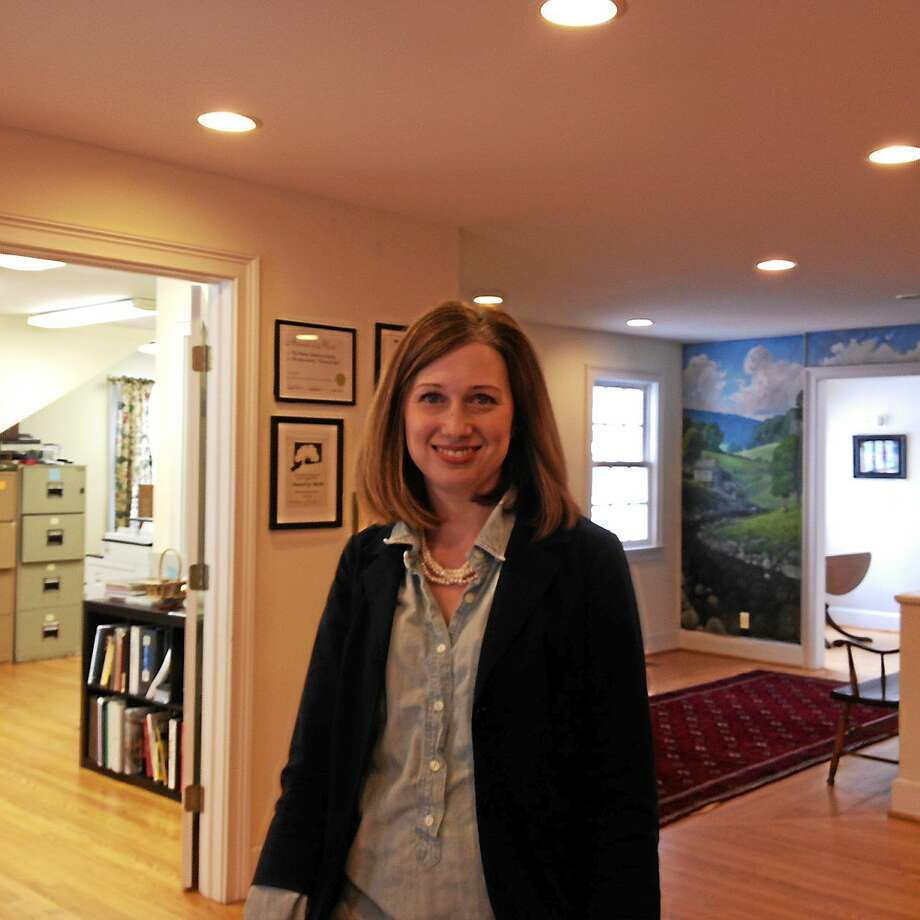 Moira Conlan, the new executive director at the Sharon Historical Society. Photo: Kaitlin McCallum — The Register Citizen