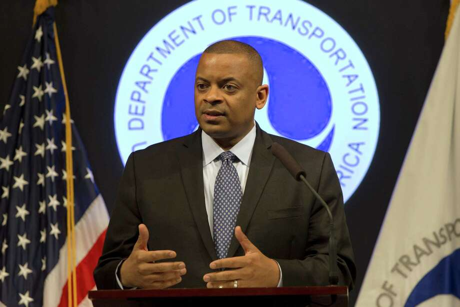 Transportation Secretary Anthony Foxx speaks about the Takata air bag inflator recall, Tuesday, May 19, 2015, at the Transportation Department in Washington. Air bag maker Takata Corp. has agreed to declare 33.8 million of its inflator mechanisms defective, effectively doubling the number of cars and trucks that have been recalled in the U.S. so far. (AP Photo/Jacquelyn Martin) Photo: AP / AP