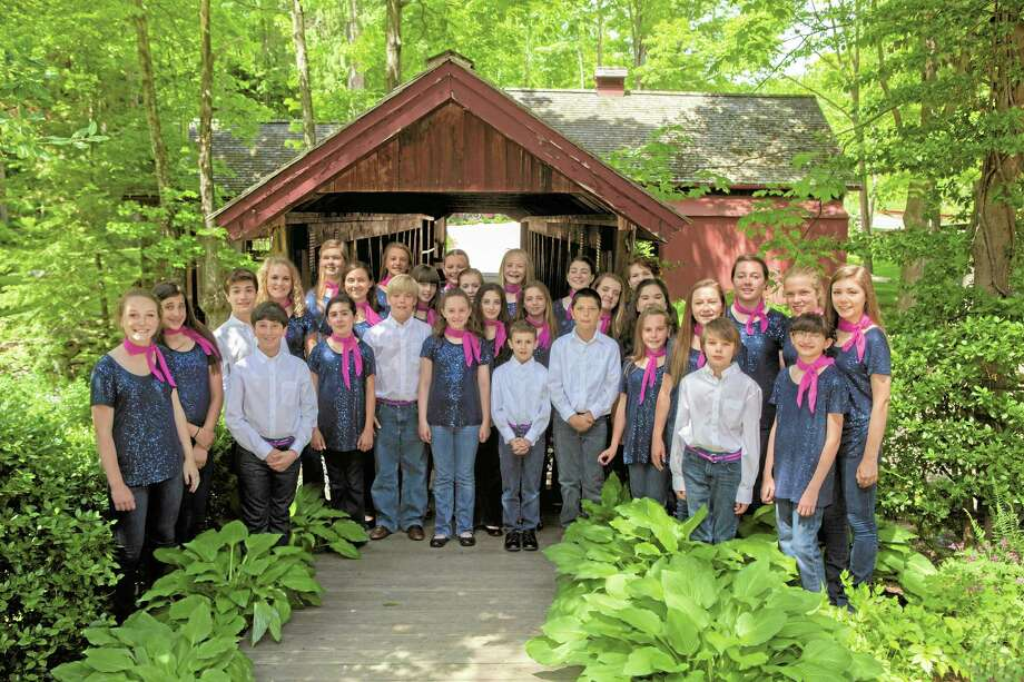 Members of SingOut!CT at the 2014 Garden Tour and Concert. Photo: Contributed Photo