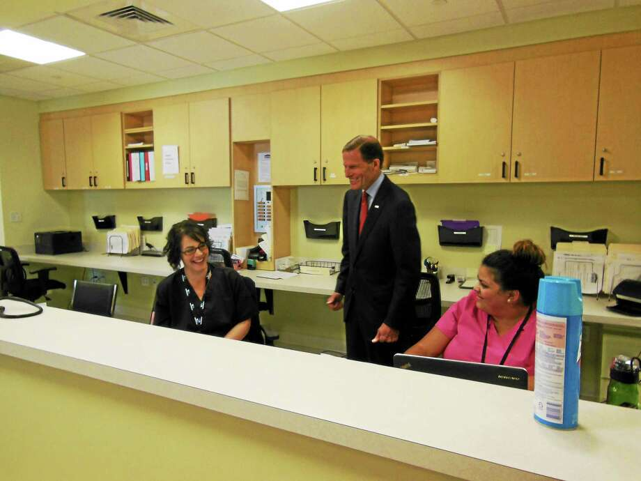 Contributed photo U.S. Sen Richard Blumenthal toured the Community Health and Wellness Center of Greater Torrington on Migeon Avenue on Friday. Photo: Journal Register Co.