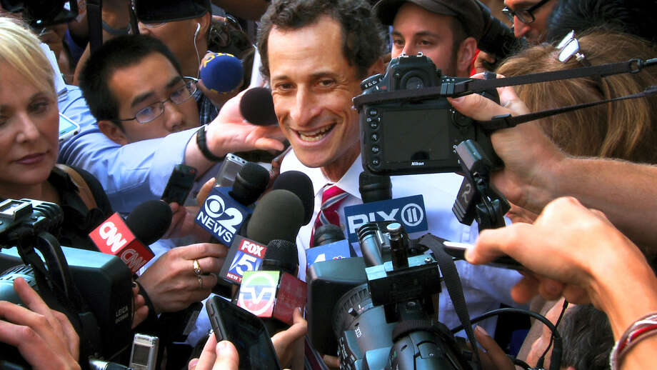 """This image released by IFC Films shows Anthony Weiner in a scene from the documentary, """"Weiner."""" (IFC Films via AP) Photo: AP / IFC Films"""