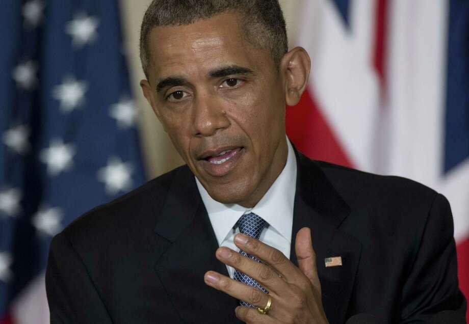 President Barack Obama speaks in the East Room of the White House in Washington. Photo: AP Photo  / AP