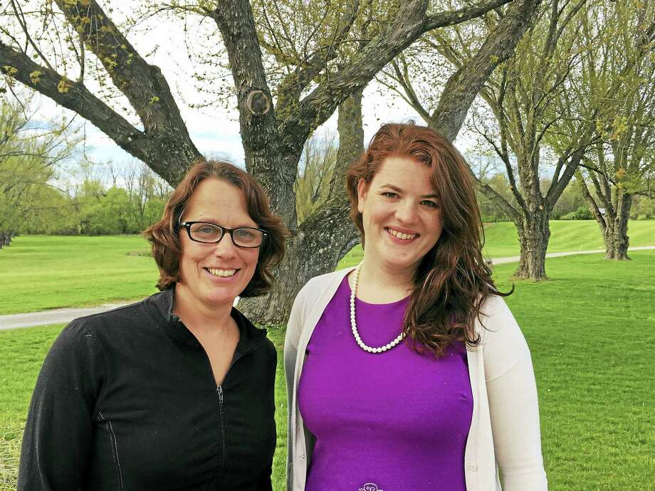 Contributed photoMeghan Kenny-Plouffe, right, has joined the Sharon VNA as Home Assistance Director, replacing Brenda Fife, left. Photo: Journal Register Co.